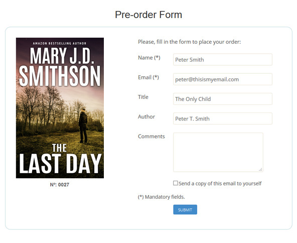 Premade ebookcovers - Pre-order cover form